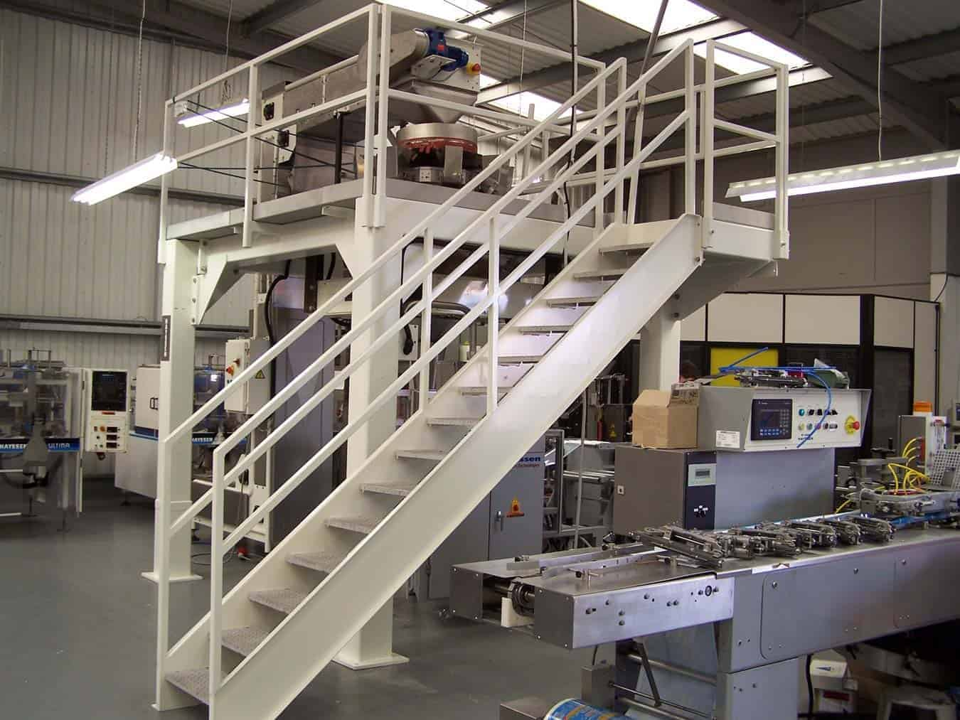 en 1090 structural steel mezzanine floor food conveyor manufacturers Platform & Mezzanine Wrightfield